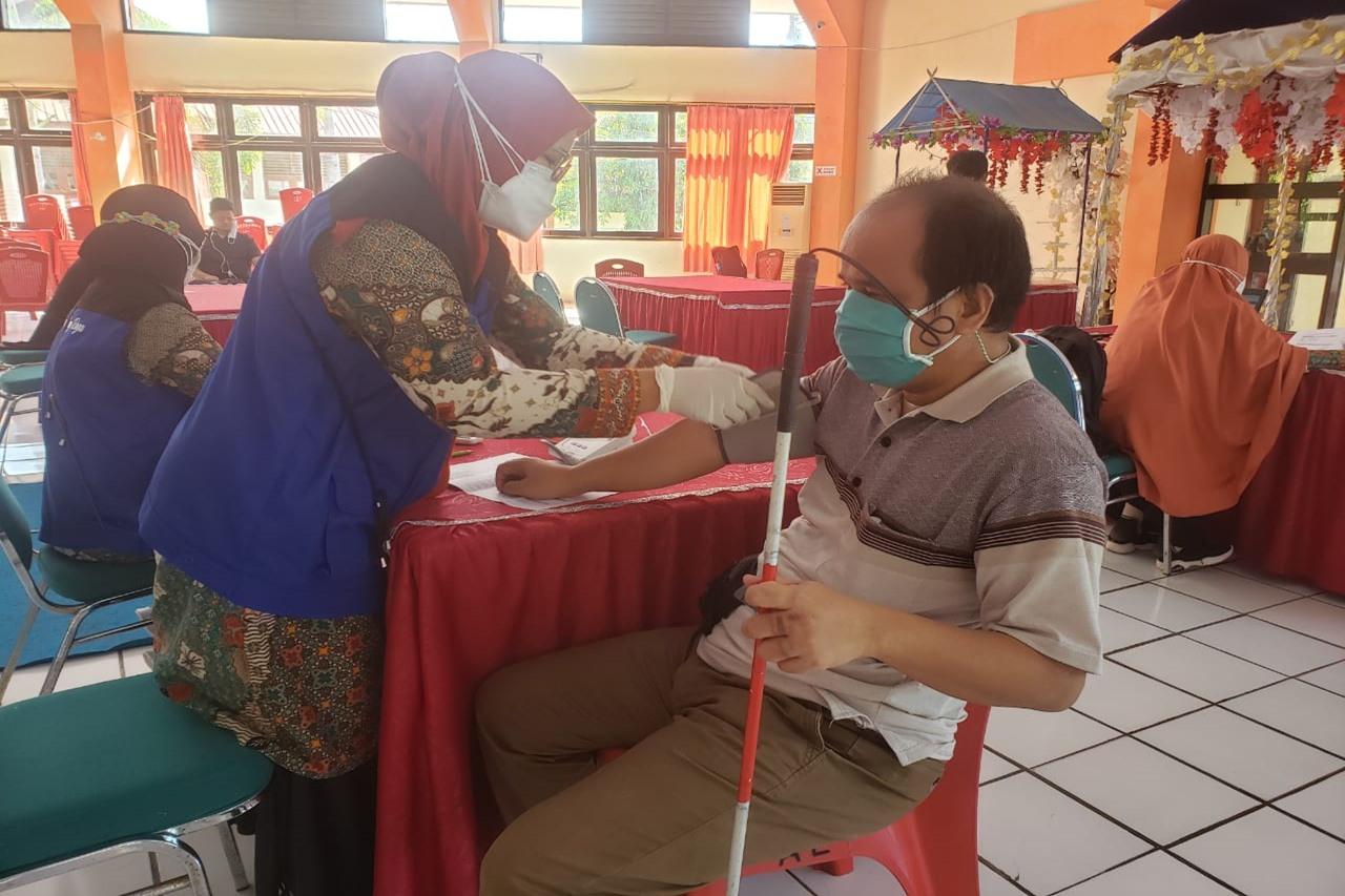 Penyandang Disabilitas se-Kota Makassar Ikuti Vaksin Ke 2