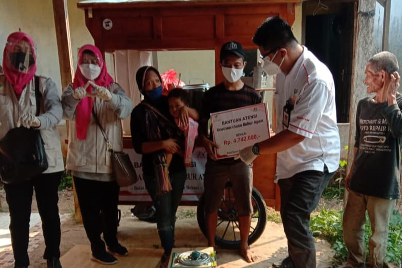 The Ministry of Social Affairs Distributes ATENSI Aid for Iwan