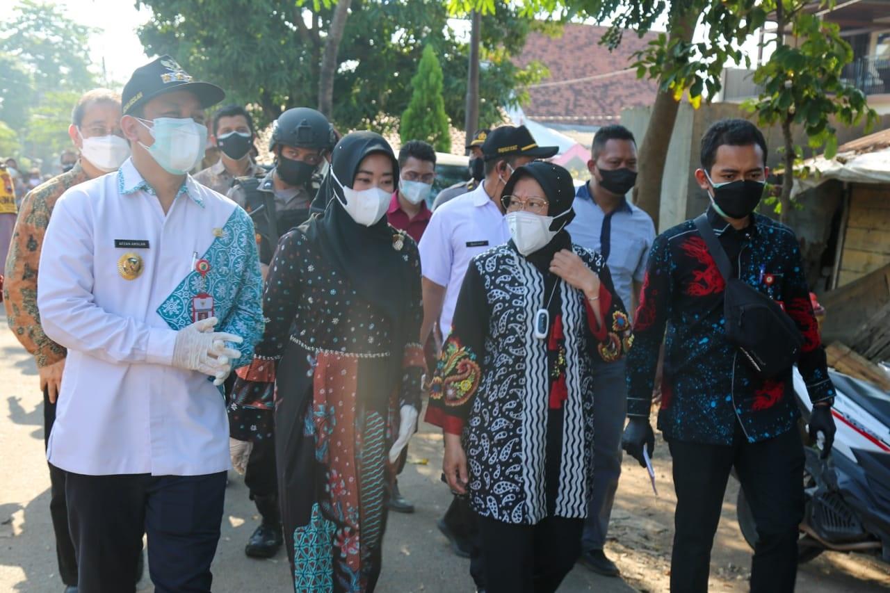 Mensos Cek Penyaluran Bansos PKH, BPNT dan BST di Kota Pekalongan