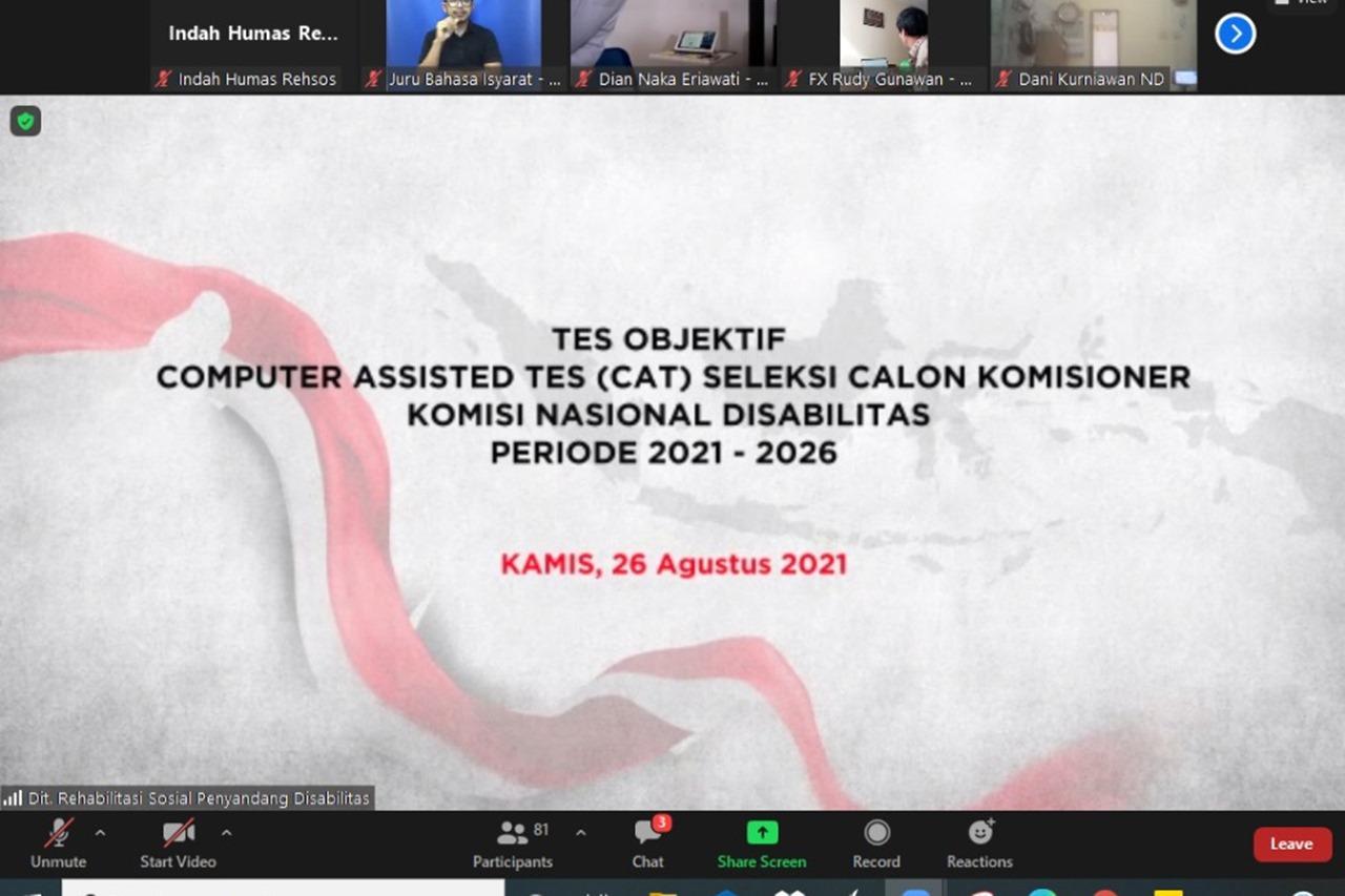 Tes Objektif CAT Calon Komisioner KND Periode 2021-2026