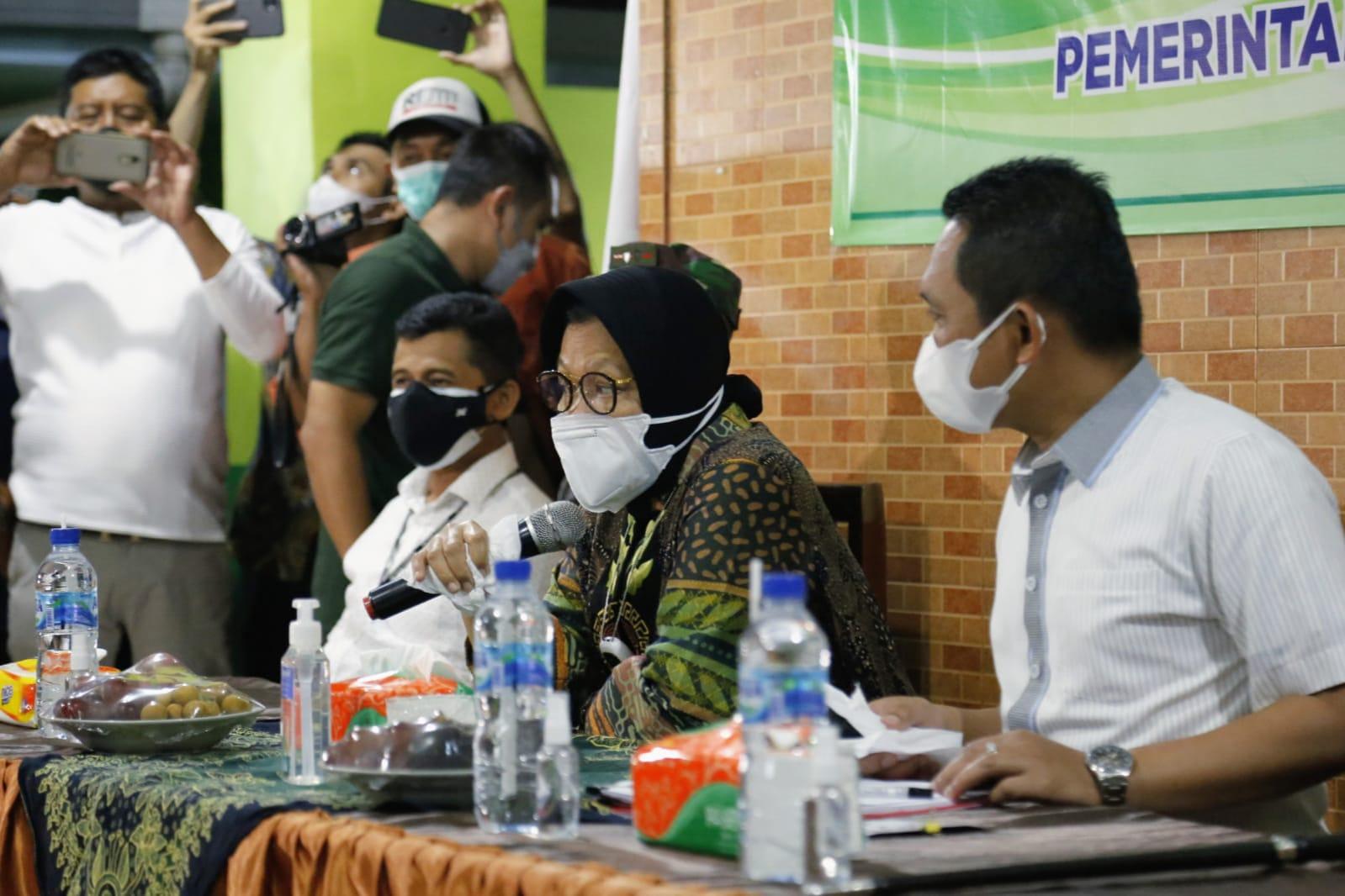 Di Hadapan Mensos Risma, Dua Bupati Sampaikan Komitmen Transparansi Pengelolaan Bansos