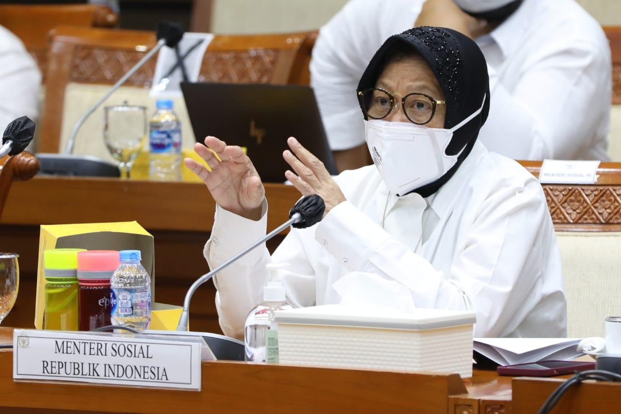 Rapat Kerja Kemensos dan Komisi VIII DPR RI Bahas RKA-KL TA 2022