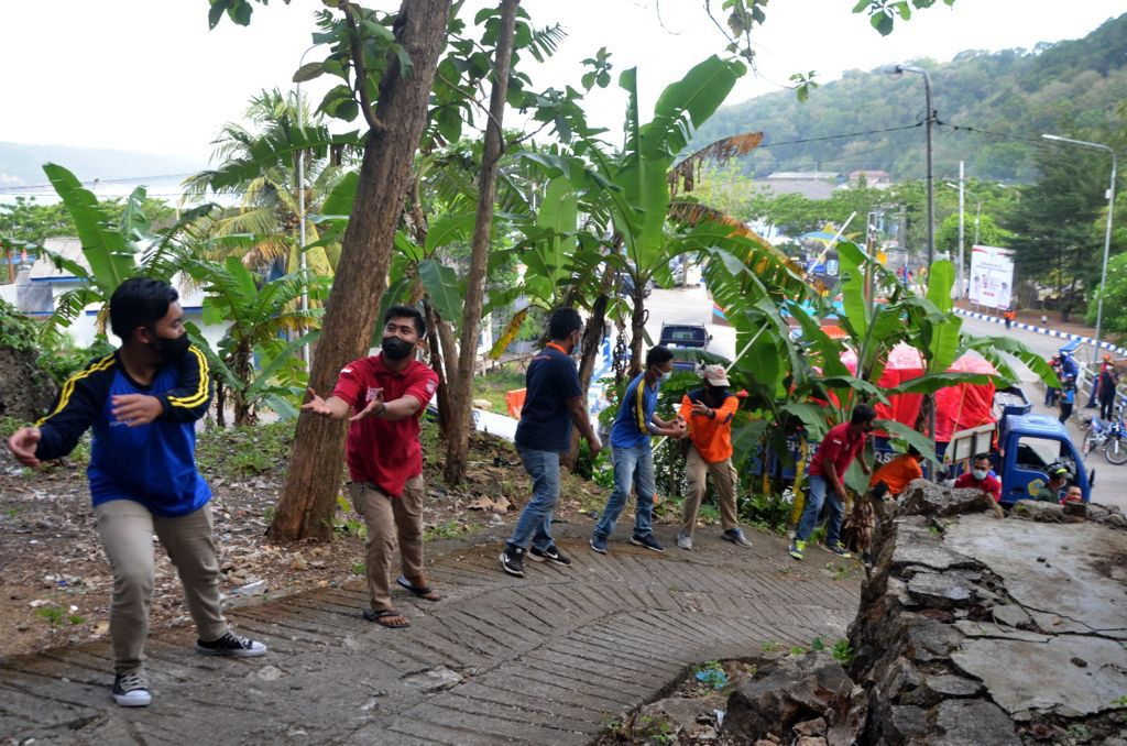 Aksi Tagana di Tengah Kepanikan Gempa dan Tsunami Megathrust