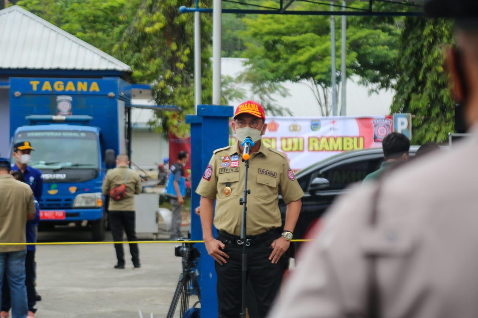 Dirjen Linjamsos Pimpin Apel Kesiapan Uji Penggunaan Rambu Evakuasi Bencana Tsunami Pacitan