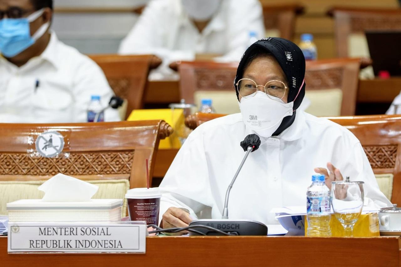 Rapat Kerja Kemensos dan Komisi VIII DPR RI Bahas Penyesuaian RKA/KL