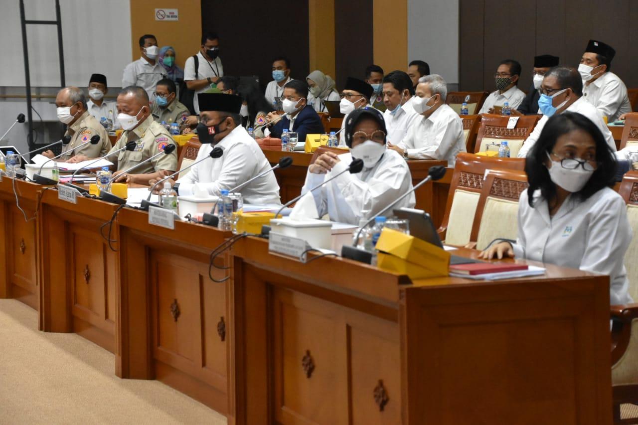 Raker Komisi VIII DPR RI dengan Mensos, Menag, Menteri PPPA, dan Kepala BNPB