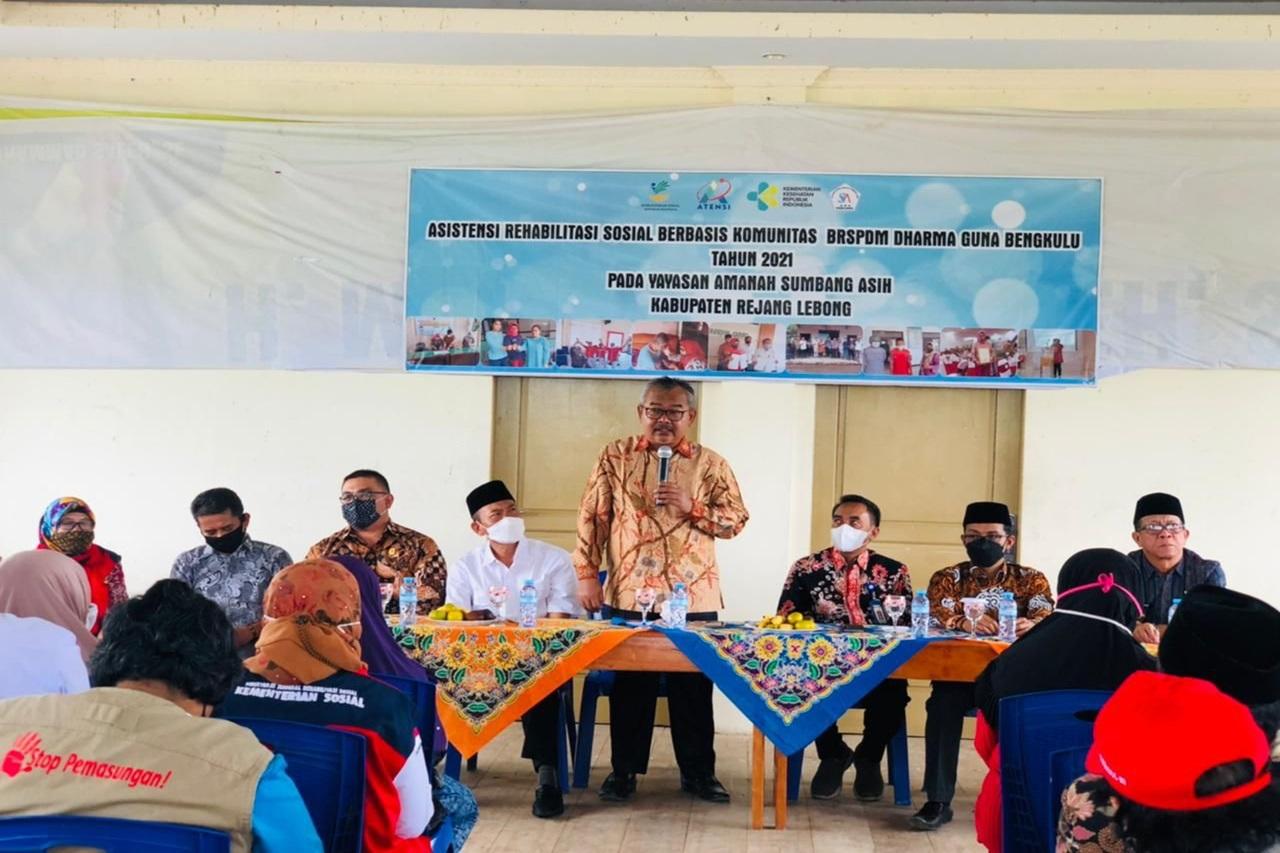 Kemensos Salurkan Bantuan ATENSI bagi PD Binaan Yayasan ASA Kabupaten Rejang Lebong