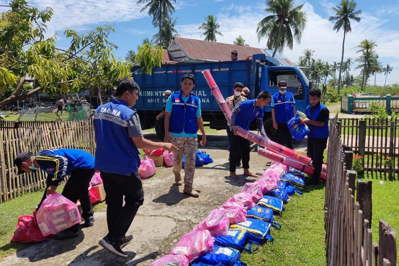 Gerak Cepat, Kemensos Aktivasi Tagana dan Kiriman Bantuan  untuk Penyintas Gempa di Bali